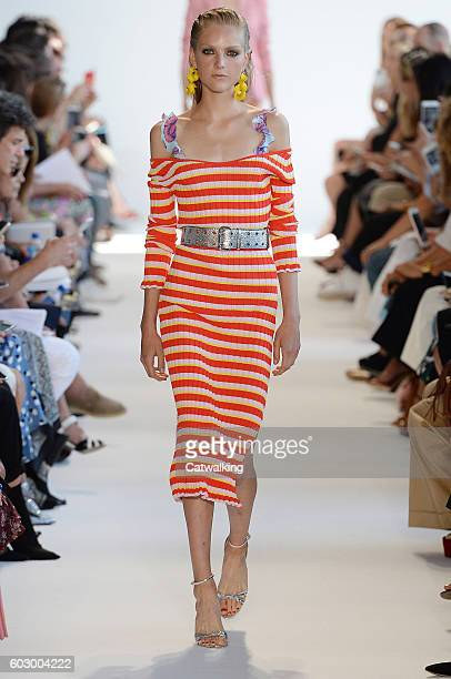 A model walks the runway at the Altuzarra Spring Summer 2017 fashion show during New York Fashion Week on September 11 2016 in New York United States