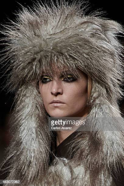 A model walks the runway at the Ana Locking show during Madrid Fashion Week Fall/Winter 2015/16 at Ifema on February 9 2015 in Madrid Spain
