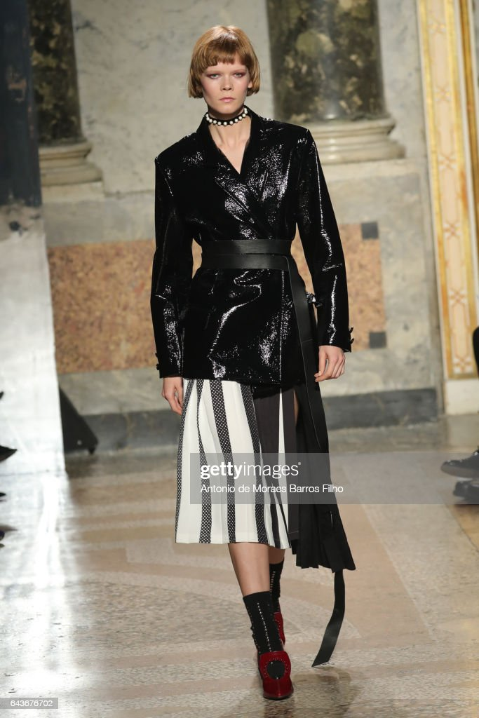 model-walks-the-runway-at-the-angelo-marani-show-during-milan-fashion-picture-id643676702
