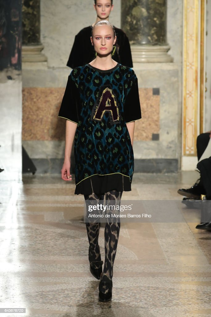 model-walks-the-runway-at-the-angelo-marani-show-during-milan-fashion-picture-id643676720