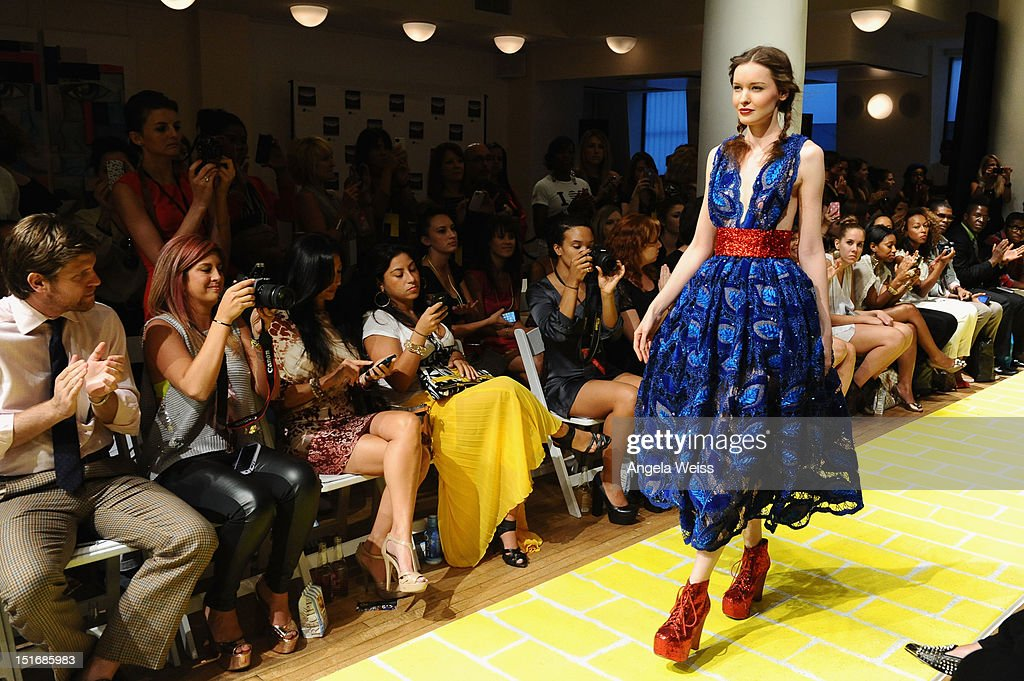 A model walks the runway at the Anna Francesca Spring 2013 fashion show during Mercedes-Benz Fashion Week at Helen Mills Event Space on September 9, 2012 in New York City.