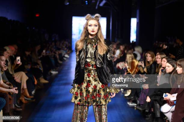 A model walks the runway at the Anna Sui Autumn Winter 2017 fashion show during New York Fashion Week on February 15 2017 in New York United States