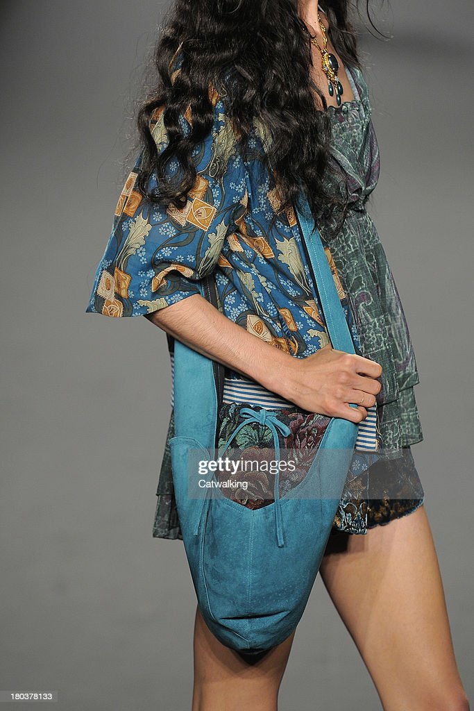 A model walks the runway at the Anna Sui Spring Summer 2014 fashion show during New York Fashion Week on September 11 2013 in New York United States