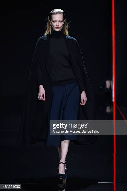 A model walks the runway at the Anteprima show during the Milan Fashion Week Autumn/Winter 2015 on February 26 2015 in Milan Italy