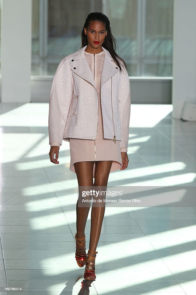A model walks the runway at the Antonio Berardi show during London Fashion Week SS14 at on September 16, 2013 in London, England.