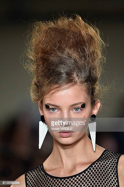 A model walks the runway at the Antonio Marras Ready to Wear show during Milan Fashion Week Spring/Summer 2017 on September 24 2016 in Milan Italy