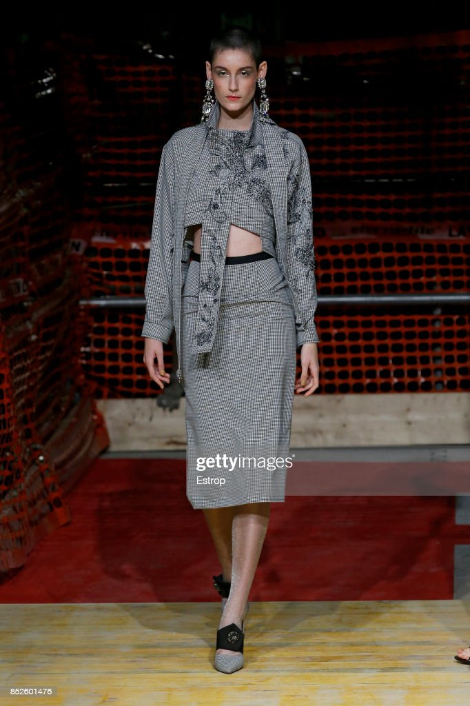 model-walks-the-runway-at-the-antonio-marras-show-during-milan-week-picture-id852601476