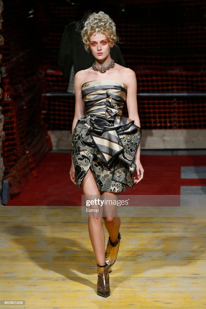 model-walks-the-runway-at-the-antonio-marras-show-during-milan-week-picture-id852601506