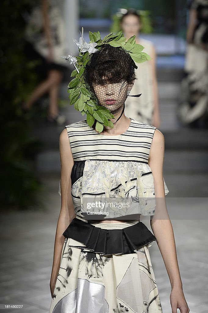 A model walks the runway at the Antonio Marras Spring Summer 2014 fashion show during Milan Fashion Week on September 20, 2013 in Milan, Italy.
