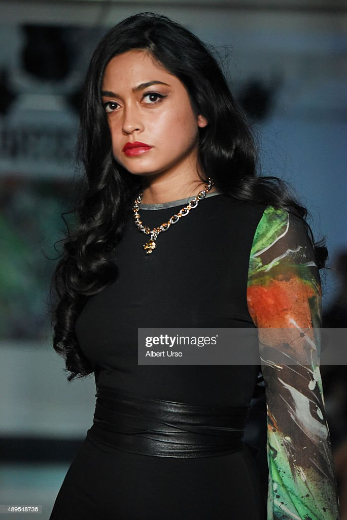 A model walks the runway at the Artistix By Greg Polessini show during Spring 2016 New York Fashion Week: The Shows at The Designer's Loft on September 14, 2015 in New York City.