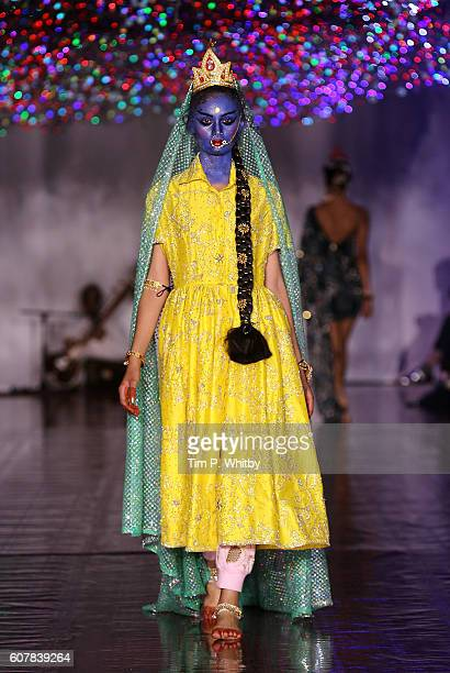 A model walks the runway at the Ashish show during London Fashion Week ASpring/Summer collections 2017 on September 19 2016 in London United Kingdom