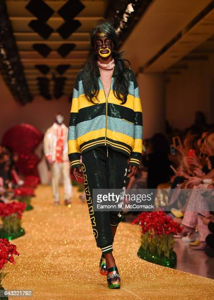 A model walks the runway at the Ashish show during the London Fashion Week February 2017 collections on February 20 2017 in London England