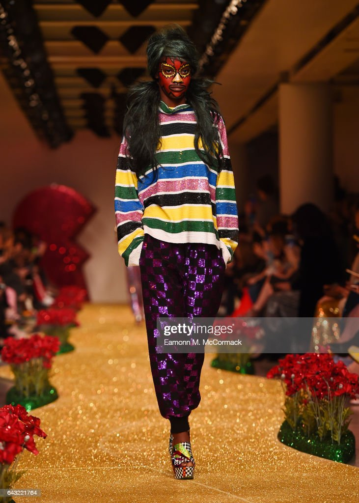 model-walks-the-runway-at-the-ashish-show-during-the-london-fashion-picture-id643221764