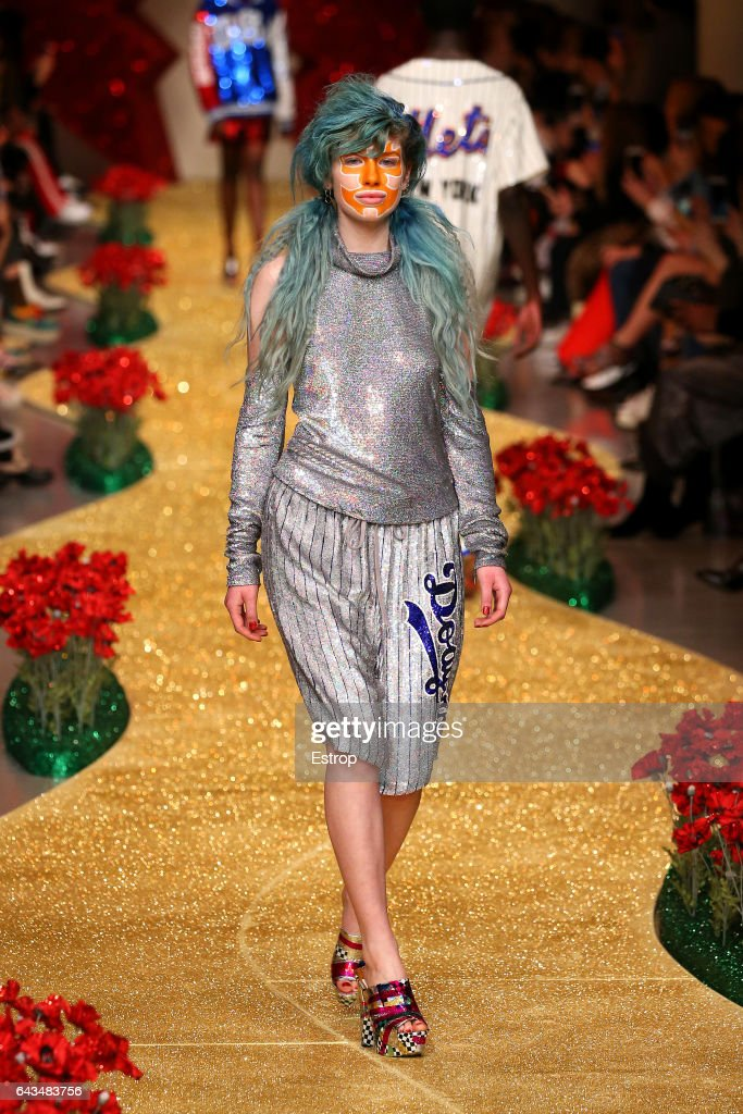 model-walks-the-runway-at-the-ashish-show-during-the-london-fashion-picture-id643483756