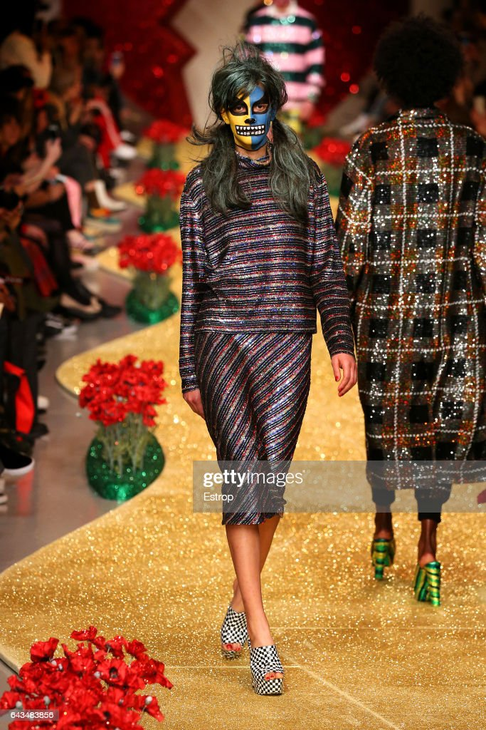 model-walks-the-runway-at-the-ashish-show-during-the-london-fashion-picture-id643483856