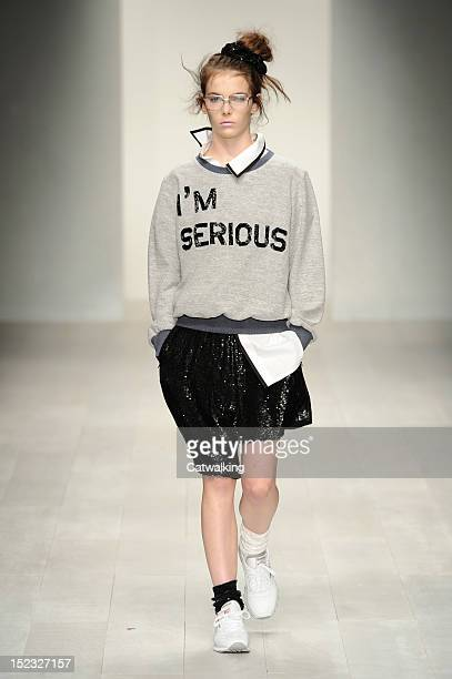 A model walks the runway at the Ashish Spring Summer 2013 fashion show during London Fashion Week on September 18 2012 in London United Kingdom