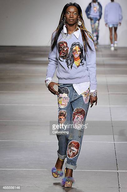 A model walks the runway at the Ashish Spring Summer 2015 fashion show during London Fashion Week on September 16 2014 in London United Kingdom