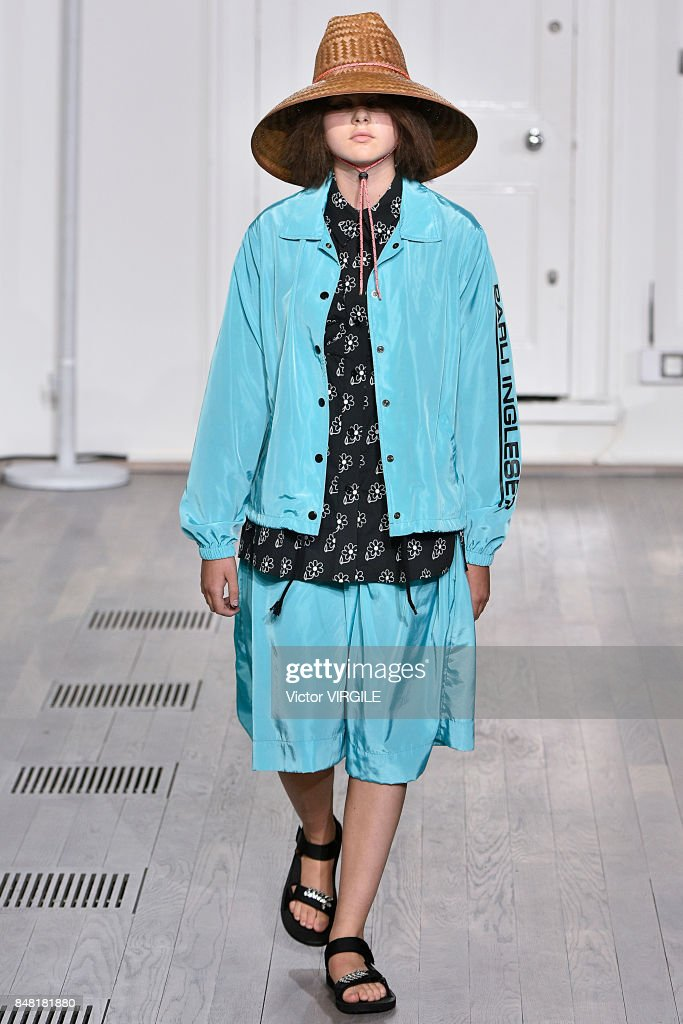 A model walks the runway at the Ashley Williams Ready to Wear Spring/Summer 2018 fashion show during London Fashion Week September 2017 on September 15, 2017 in London, England.