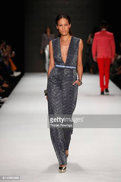 A model walks the runway at the Atil Kutoglu show during MercedesBenz Fashion Week Istanbul at Zorlu Center on October 13 2016 in Istanbul Turkey