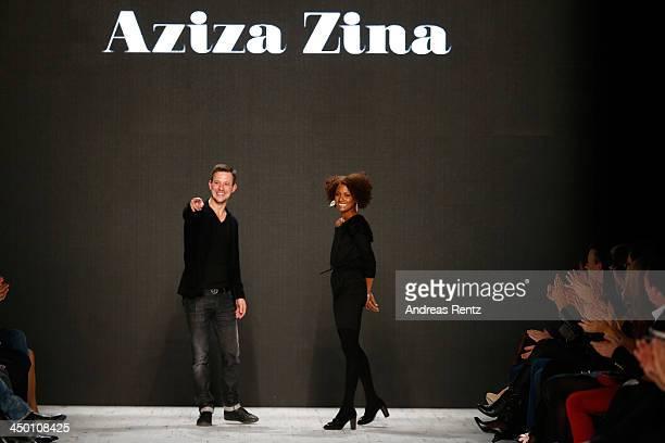 A model walks the runway at the Aziza Zina show during MercedesBenz Fashion Days Zurich 2013 on November 16 2013 in Zurich Switzerland
