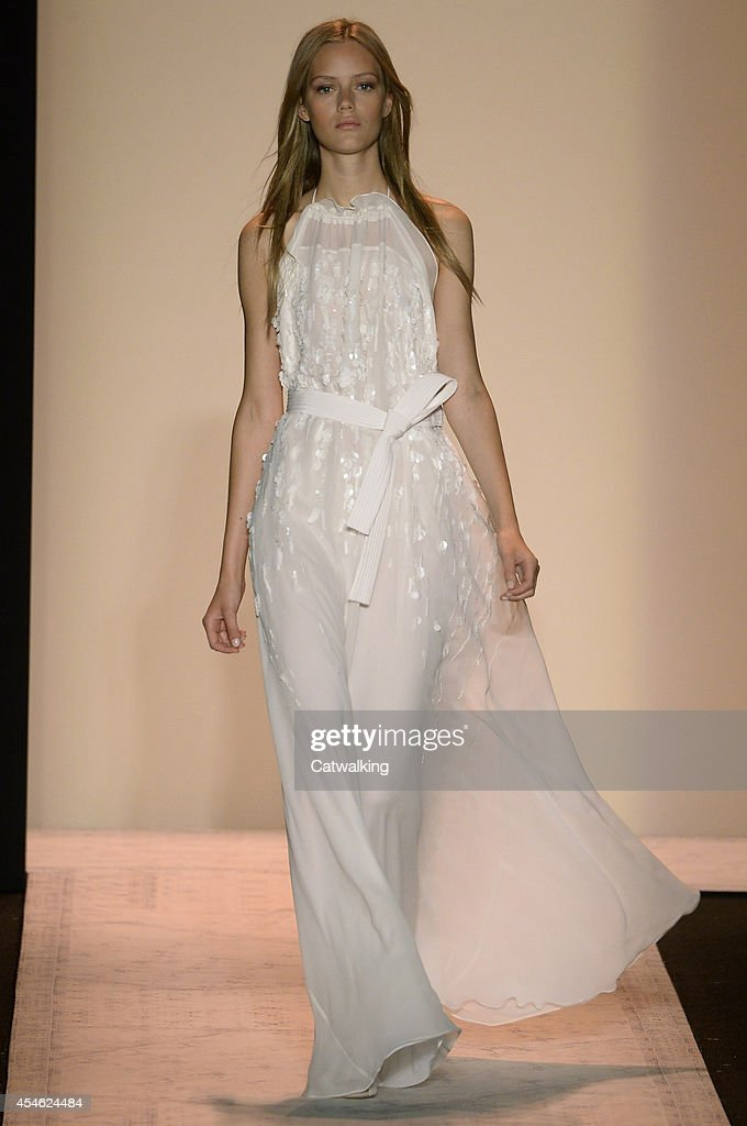 A model walks the runway at the BCBG Max Azria Spring Summer 2015 fashion show during New York Fashion Week on September 4 2014 in New York United...
