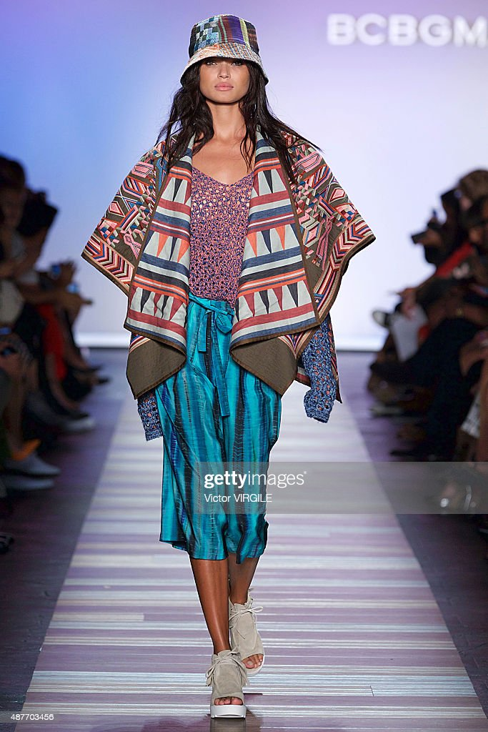 A model walks the runway at the BCBGMAXAZRIA fashion show during the Spring Summer 2016 New York Fashion Week on September 10 2015 in New York City