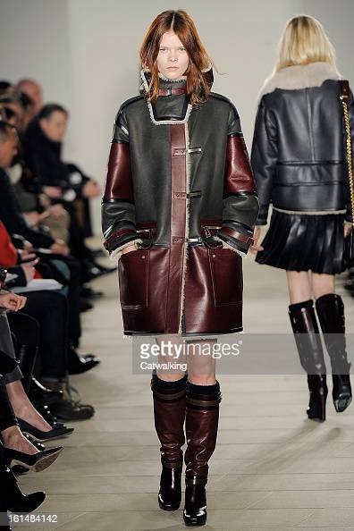 A model walks the runway at the Belstaff Autumn Winter 2013 fashion show during New York Fashion Week on February 11 2013 in New York United States