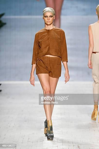 A model walks the runway at the Berenik show during MercedesBenz Fashion Days Zurich 2013 on November 16 2013 in Zurich Switzerland