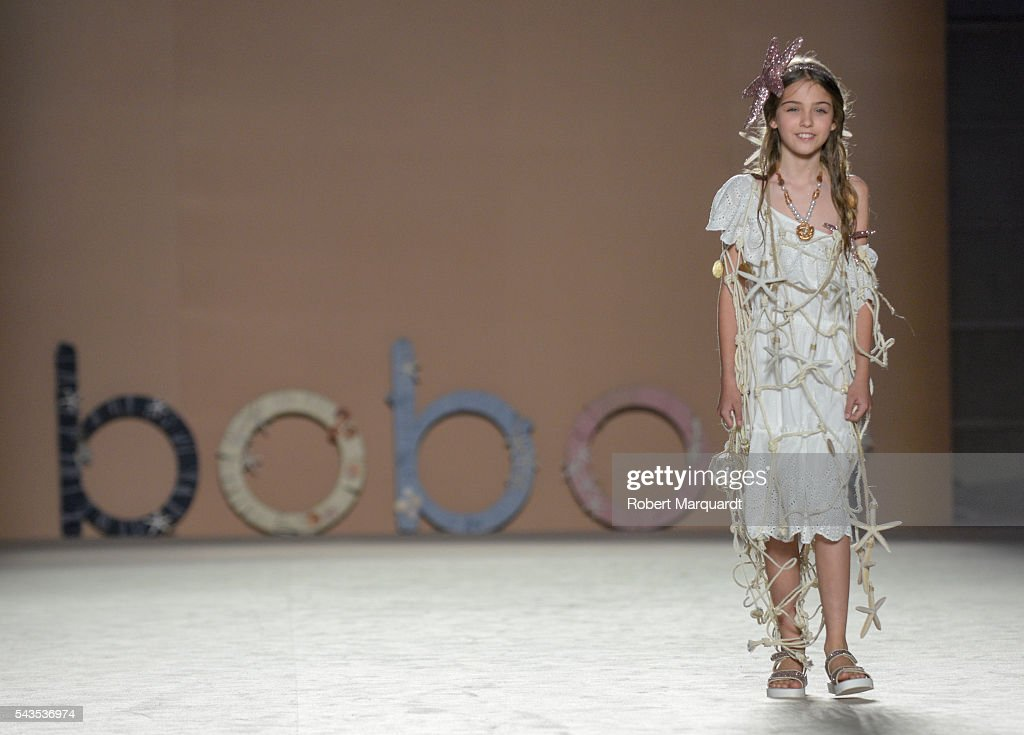 A model walks the runway at the Boboli show during the Barcelona 080 Fashion Week Spring/Summer 2017 at the INFEC on June 29, 2016 in Barcelona, Spain.