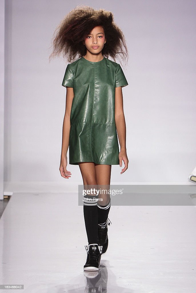 A model walks the runway at the bonneyyoung show during petiteParade NY Kids Fashion Week in Collaboration with VOGUE bambini at Industria Superstudio on October 6, 2013 in New York City.