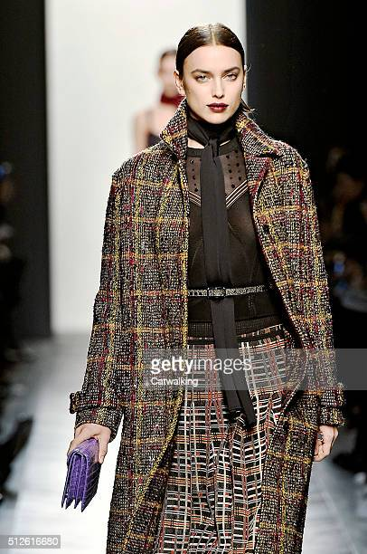 A model walks the runway at the Bottega Veneta Autumn Winter 2016 fashion show during Milan Fashion Week on February 27 2016 in Milan Italy