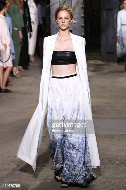 <<A model walks the runway>> at the Boy and Girl by Band of Outsiders 2012 fashion show during MercedesBenz Fashion Week at 507 West 24th Street on...