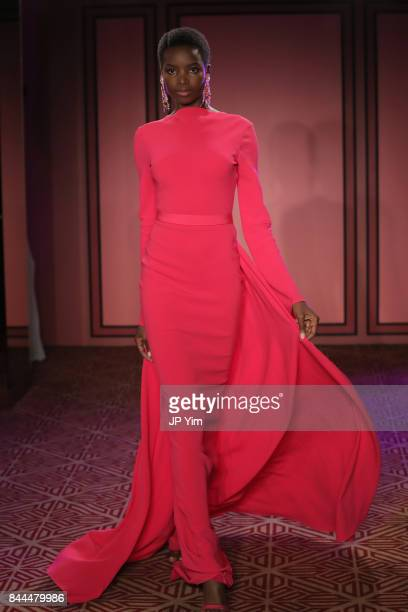 A model walks the runway at the Brandon Maxwell fashion show during New York Fashion Week The Shows on September 8 2017 in New York City