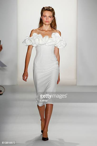 A model walks the runway at the Brock Collection show at Milk Studios on September 8 2016 in New York City