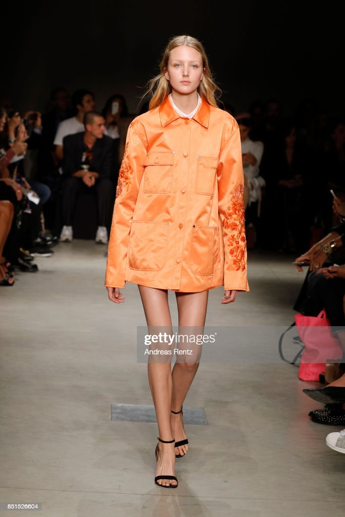 model-walks-the-runway-at-the-brognano-show-during-milan-fashion-week-picture-id851526604