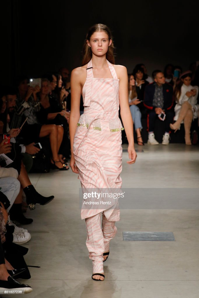 model-walks-the-runway-at-the-brognano-show-during-milan-fashion-week-picture-id851527236