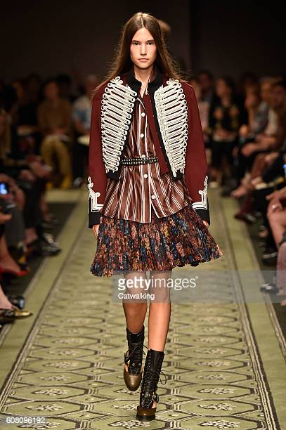 Jacket burberry stock photos and pictures getty images - Burberry fashion show ...