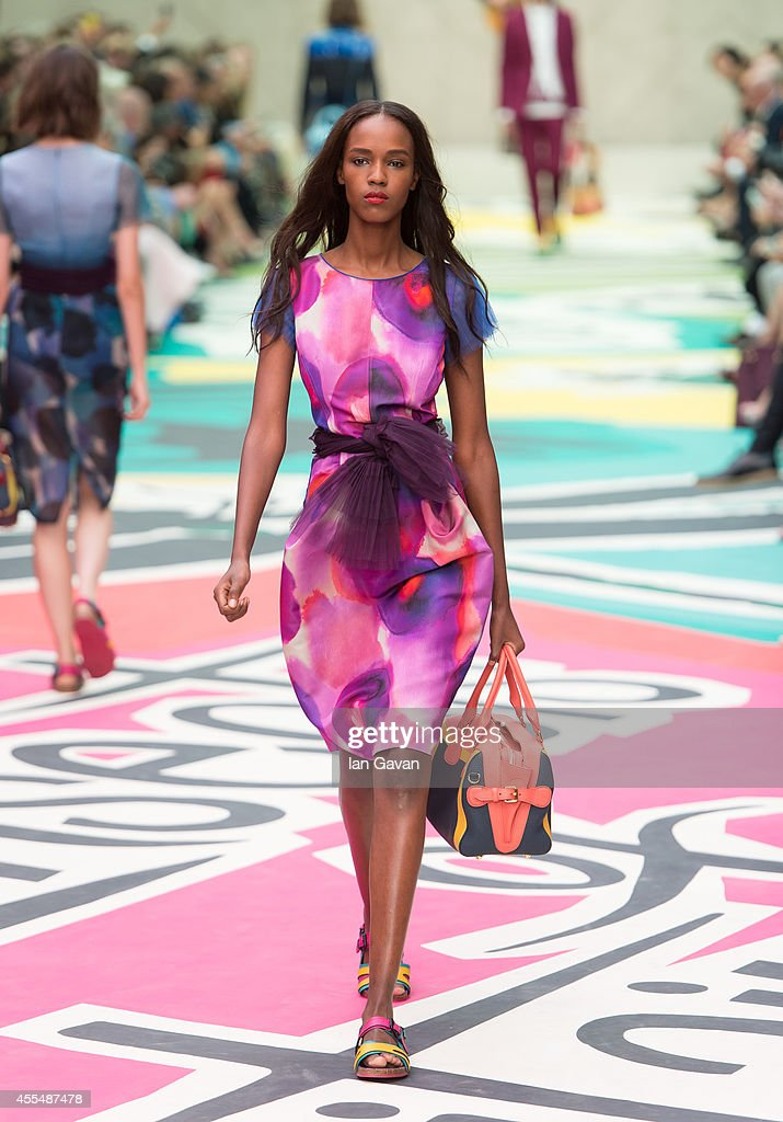 A model walks the runway at the Burberry Prorsum show during London Fashion Week SS15 on September 15 2014 in LondonEngland