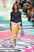 A model walks the runway at the Burberry Prorsum show during London Fashion Week Spring Summer 2015 on September 15 2014 in London England