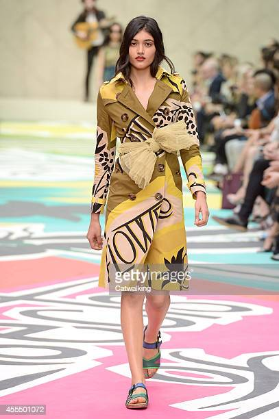 A model walks the runway at the Burberry Spring Summer 2015 fashion show during London Fashion Week on September 15 2014 in London United Kingdom