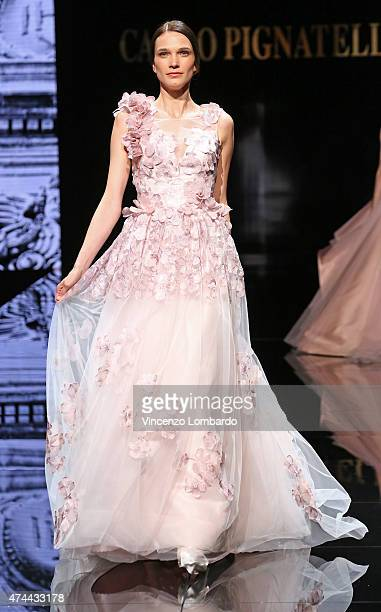 A model walks the runway at the Carlo Pignatelli Fashion Show 2016 on May 22 2015 in Milan Italy