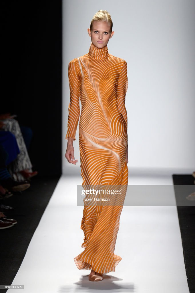 A model walks the runway at the Carolina Herrera fashion show during Mercedes-Benz Fashion Week Spring 2014 on September 9, 2013 in New York City.