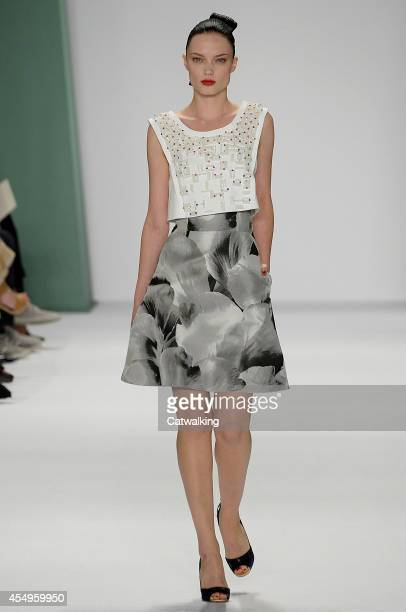 A model walks the runway at the Carolina Herrera Spring Summer 2015 fashion show during New York Fashion Week on September 8 2014 in New York United...