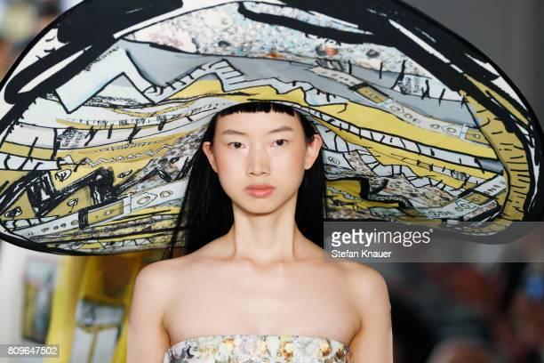 A model walks the runway at the Celine Bethmann show 'Designer for Tomorrow' by Peek Cloppenburg and Fashion ID during MercedesBenz Fashion Week...