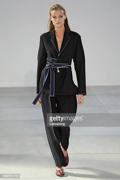 A model walks the runway at the Celine Spring Summer 2015 fashion show during Paris Fashion Week on September 28 2014 in Paris France
