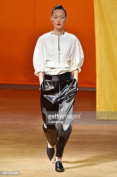 celine fashion designer kcdv  A model walks the runway at the Celine Spring Summer 2016 fashion show  during Paris Fashion