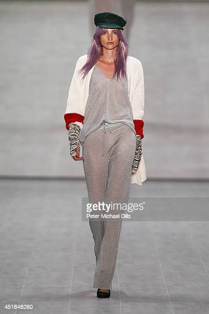 A model walks the runway at the C'est Tout / Ce' Nou show during the MercedesBenz Fashion Week Spring/Summer 2015 at Erika Hess Eisstadion on July 8...