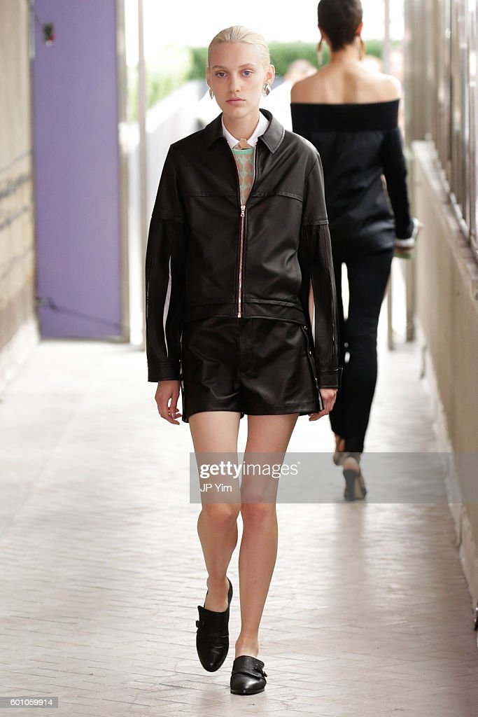 model-walks-the-runway-at-the-cg-fashion-show-during-new-york-fashion-picture-id601059914