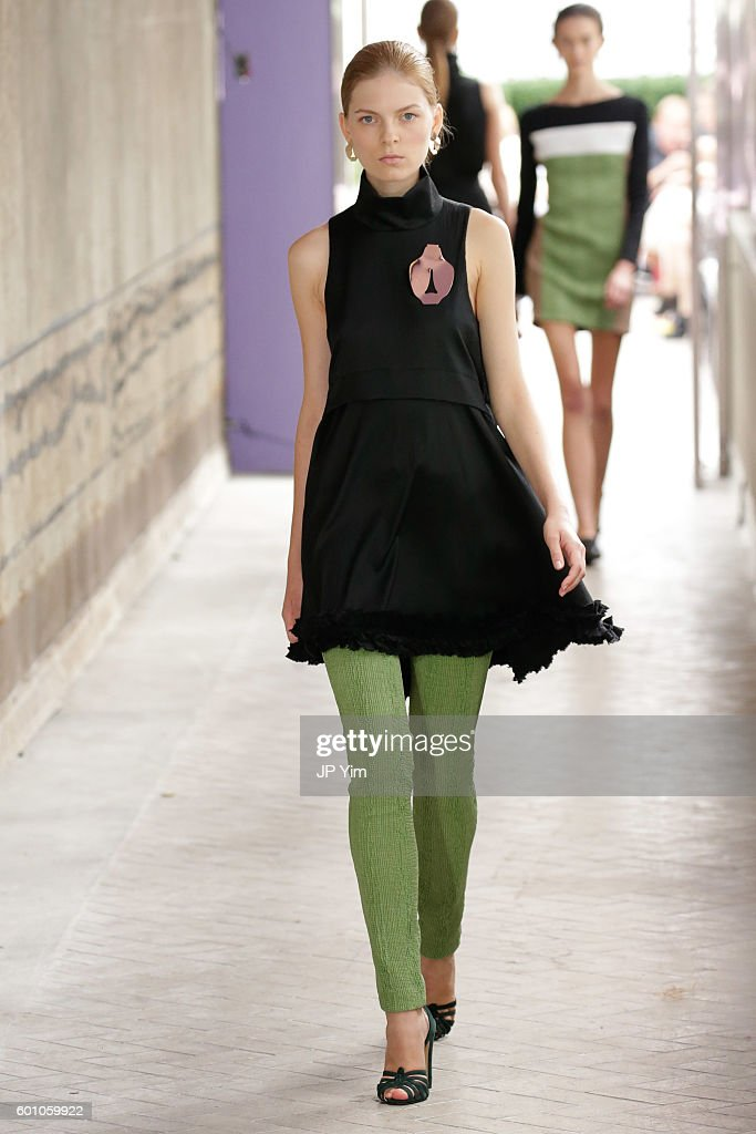 model-walks-the-runway-at-the-cg-fashion-show-during-new-york-fashion-picture-id601059922