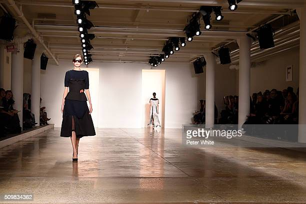 A model walks the runway at the CG runway show during Fall 2016 MADE at Milk Studios on February 12 2016 in New York City